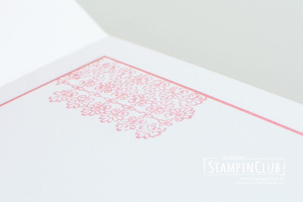 Stampin' Up!, StampinClub, Designerpapier Ganz mein Geschmack, Prägeform Textil mit Stil, Geschmackvoll gestaltet, Stanzformen Etiketten mit Stil, Stanzformen Ewige Zweige