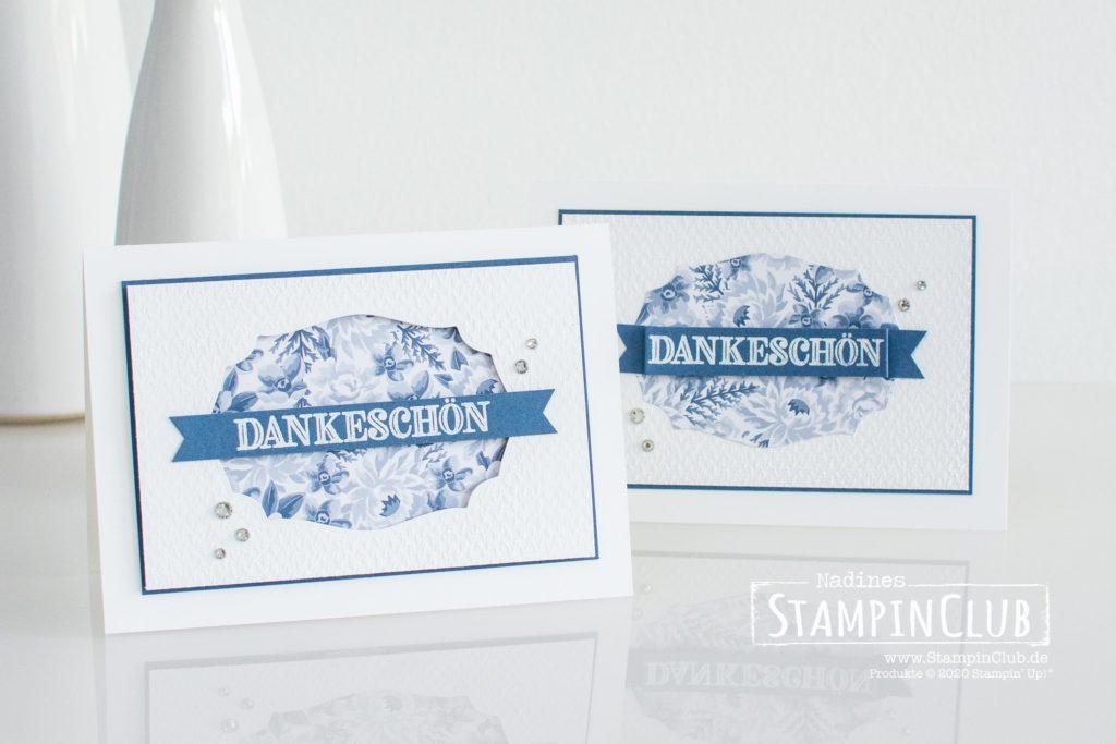 Stampin' Up!, StampinClub, Stanzformen Etiketten mit Stil, Tasteful Labels Dies, Prägeform Textil mit Stil 3D, Tasteful Textil 3D Embossing Folder, Designerpapier Blumen für jede Gelegenheit, Dekoratives Dankeschön
