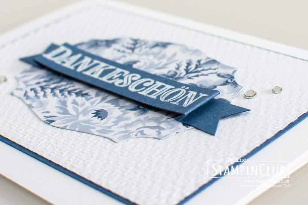 Textil mit Stil, Stampin' Up!, StampinClub, Stanzformen Etiketten mit Stil, Tasteful Labels Dies, Prägeform Textil mit Stil 3D, Tasteful Textil 3D Embossing Folder, Designerpapier Blumen für jede Gelegenheit, Dekoratives Dankeschön
