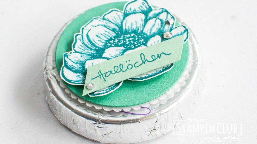 Stampin' Up!, StampinClub, Geschmackvoll gestaltet, Tasteful Touches, Zauberhafte Grüße, Lovely You, Stanzformen Lagenweise Kreise