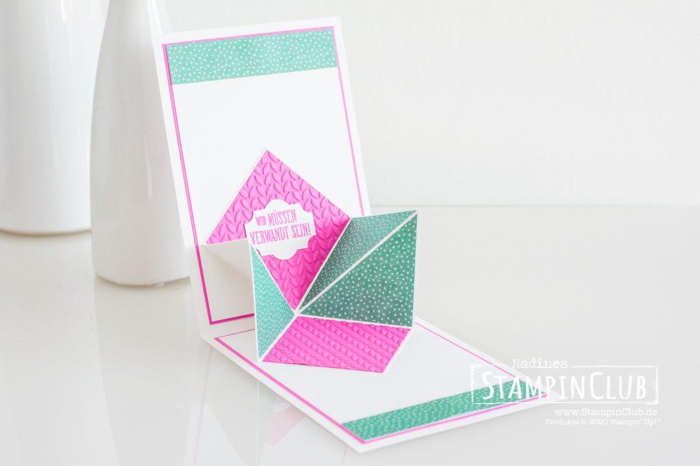 Designerpapier Blumen für jede Jahreszeit, Stanzformen Stickmuster, Beste Enkelkinder, A Grand Kid, Prägeformen Blattgrün, Pop-Up-Karte