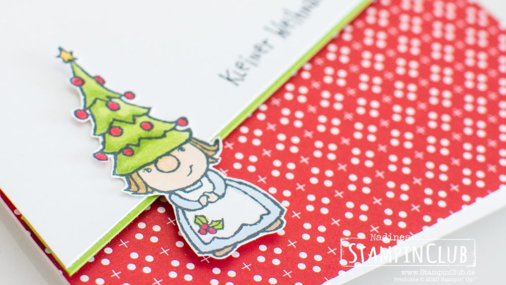 Stampin' Up!, StampinClub, Minikatalog AUG-DEZ 2020, Wichtelweihnacht, Gnome for the Holidays, Designerpapier Weihnachten im Herzen, Heartwarming Hugs DSP, Weihnachtskarte 2020, Weihnachtskarten 2020