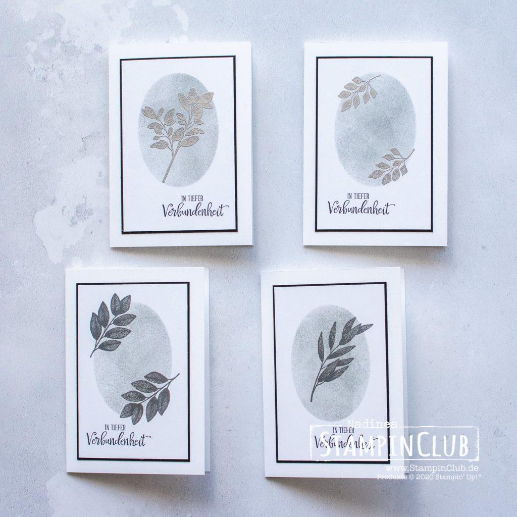 Trauerkarte Für alle Zeit, Stampin' Up!, StampinClub, Trauerkarte, Kondolenzkarte, Stempelset Ewige Zweige, Besondere Momente