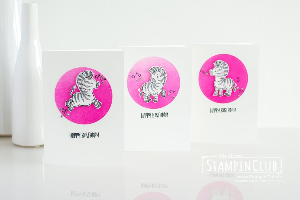 Stampin' Up!, StampinClub, Geburtstagskarte, Zany Zebras