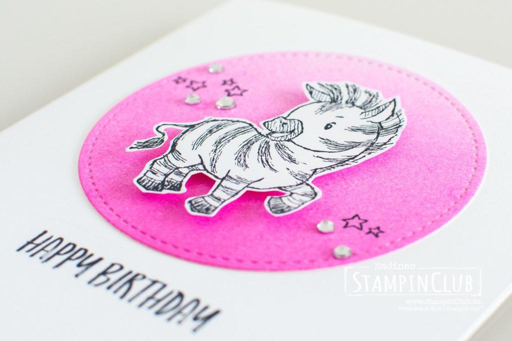 Zany Zebras, Stampin' Up!, StampinClub, Geburtstagskarte, Zany Zebras