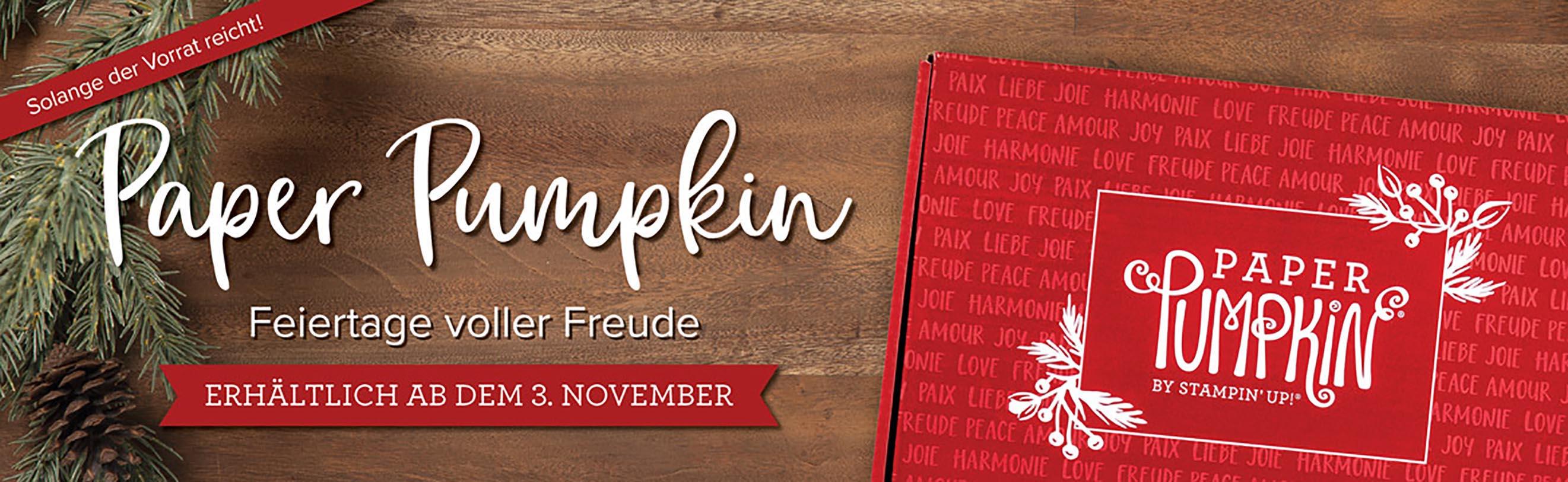 Paper Pumpkin – Feiertage voller Freude