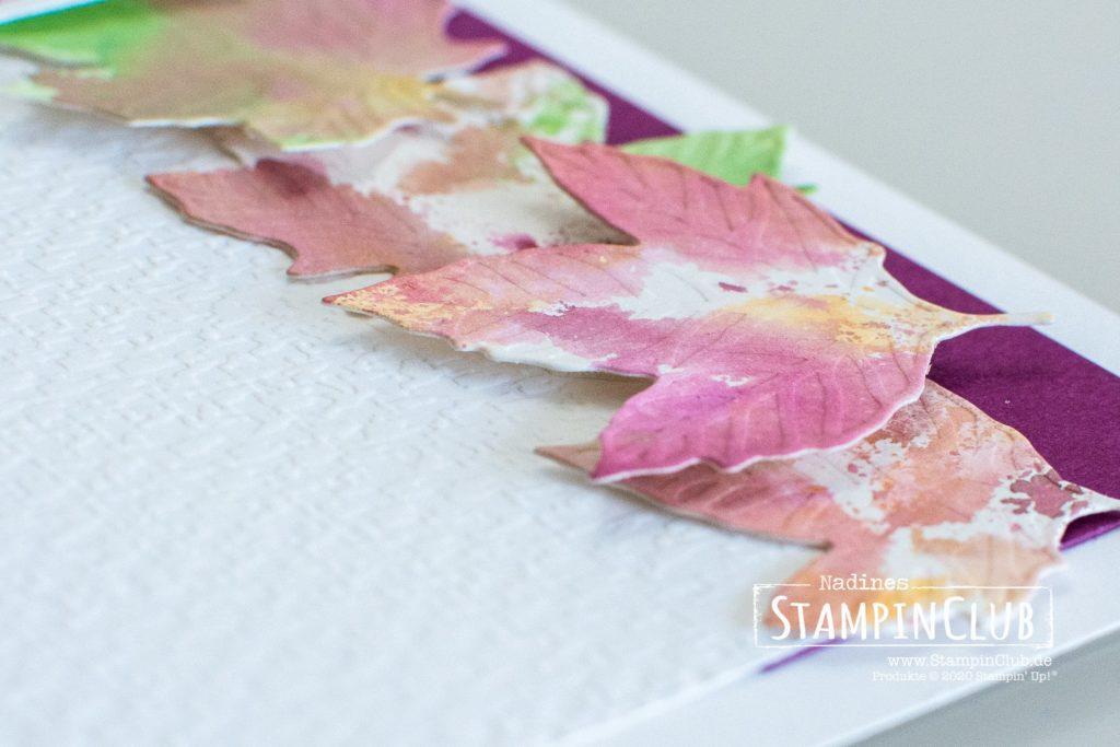 Buntes Herbstlaub, Stampin' Up!, StampinClub, Stanzformen Herbstlaub, Traumblüten, Gorgeous Posies