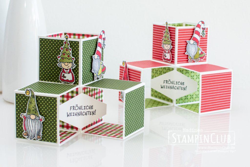 Stampin' Up!, StampinClub, Triple Pop-Up Cube Karte