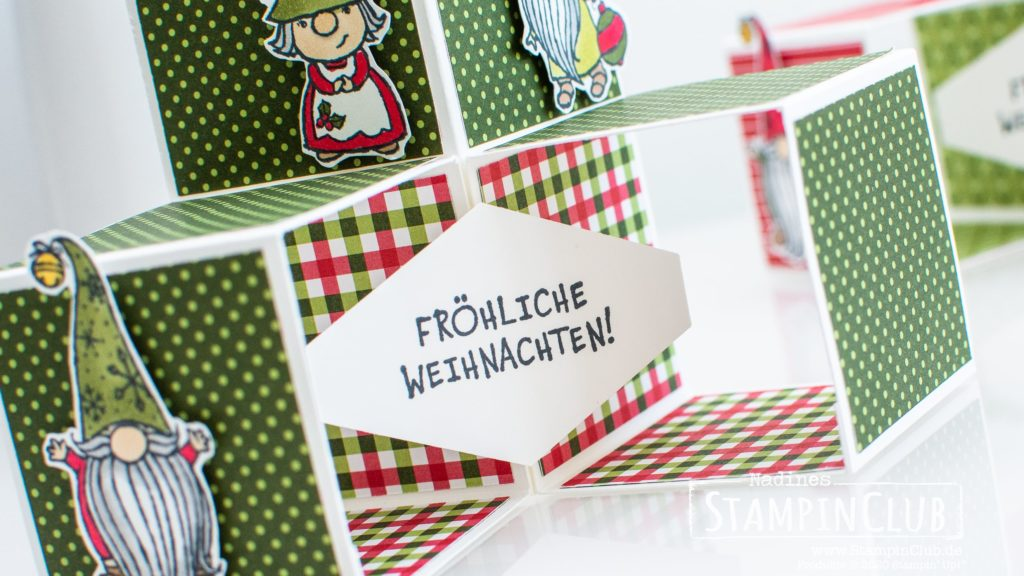 Stampin' Up!, StampinClub, Triple Pop-Up Cube Karte