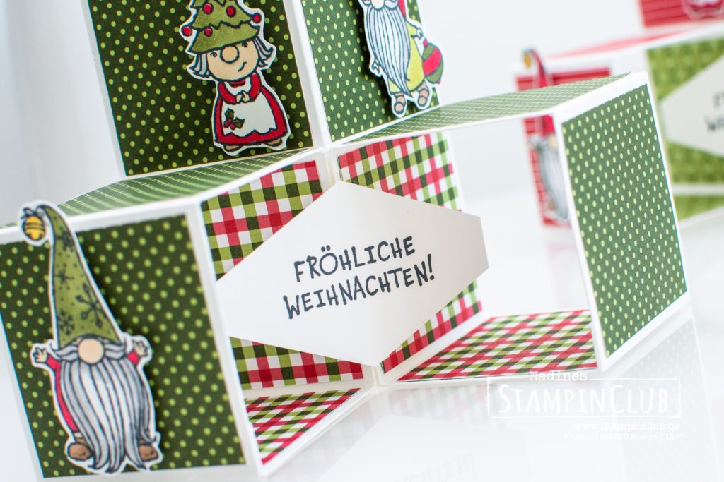 Triple Pop-Up Cube Karte, Stampin' Up!, StampinClub, Triple Pop-Up Cube Karte