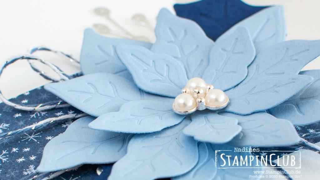Stampin' Up!, StampinClub, Anleitung XL Häuschen, Stanzformen Weihnachtsstern, Designerpapier Adventsstädtchen