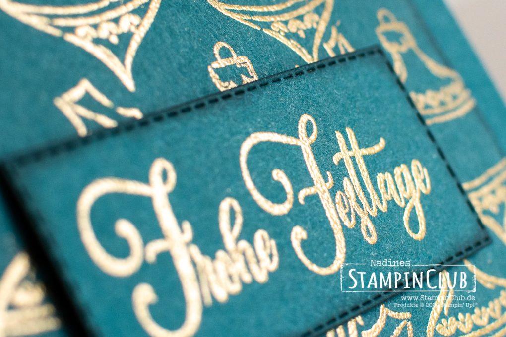 Stampin' Up!, StampinClub, Festliche Anhänger, Tag Buffet, Stanzformen Bestickte Rechtecke