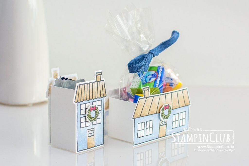 Stampin' Up!, StampinClub, Coming Home, Verpackung, Geschenkverpackung, Box, Haus