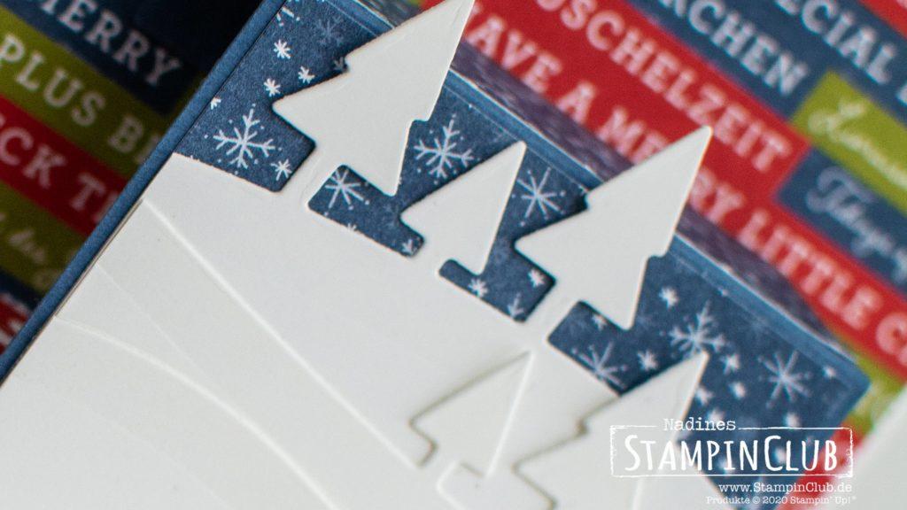 Stampin' Up!, StampinClub, Front Step Panel Card, Fun Fold Card, Coming Home, Designerpapier Adventsstädtchen, Stanzformen Unser Zuhause