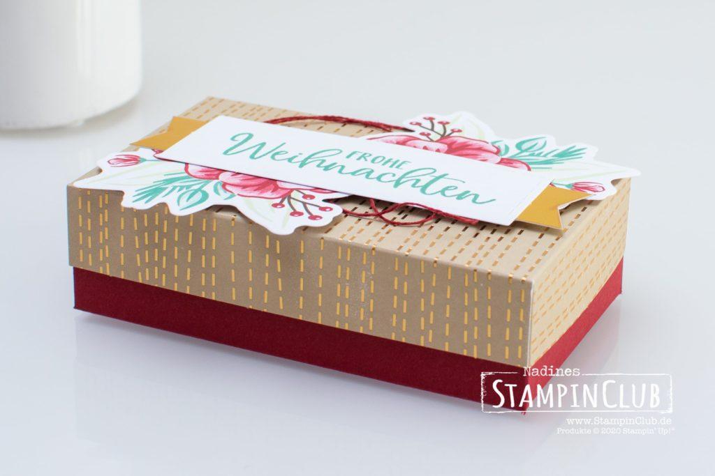 Box voller Freude, Stampin' Up!, StampinClub, Paper Pumpkin, Feiertage voller Freude, Joy to the World, Verpackung, Alternative, Box voller Freude