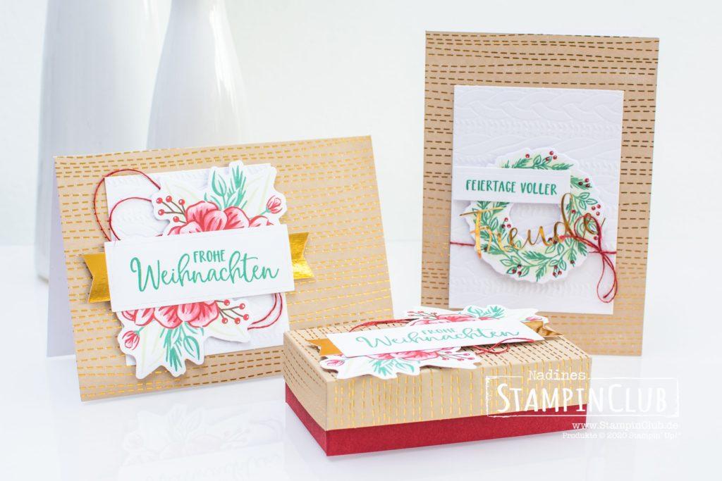 Stampin' Up!, StampinClub, Paper Pumpkin, Feiertage voller Freude, Joy to the World, Verpackung, Alternative, Box voller Freude