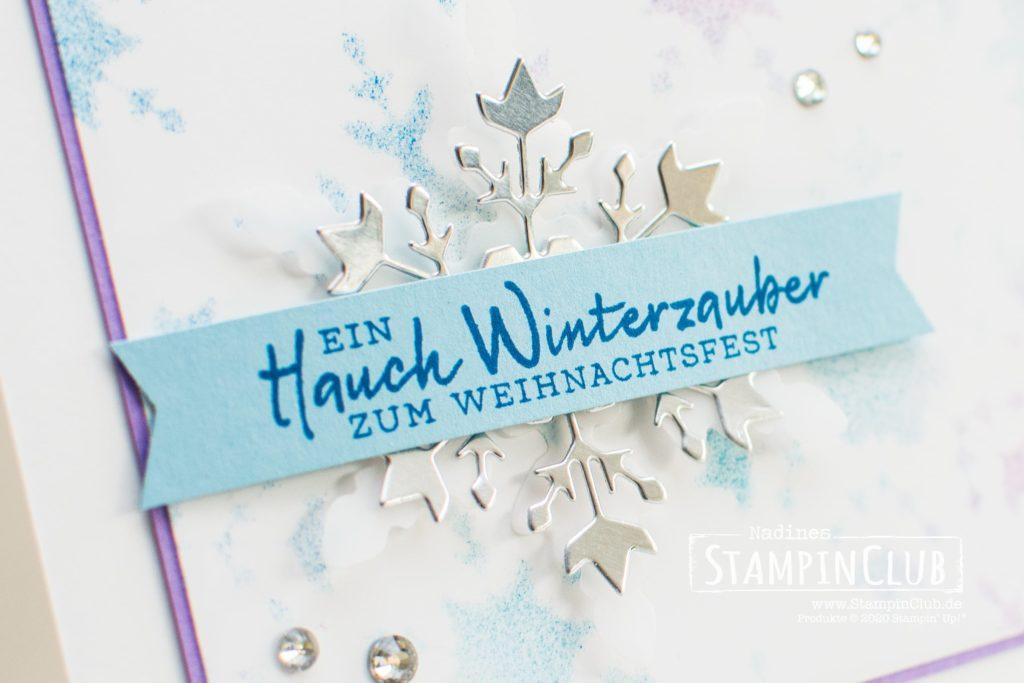 Stampin' Up!, StampinClub, Schablonen, Stanzformen so viele Flocken, Schneeflockenwünsche, Weihnachtskarte