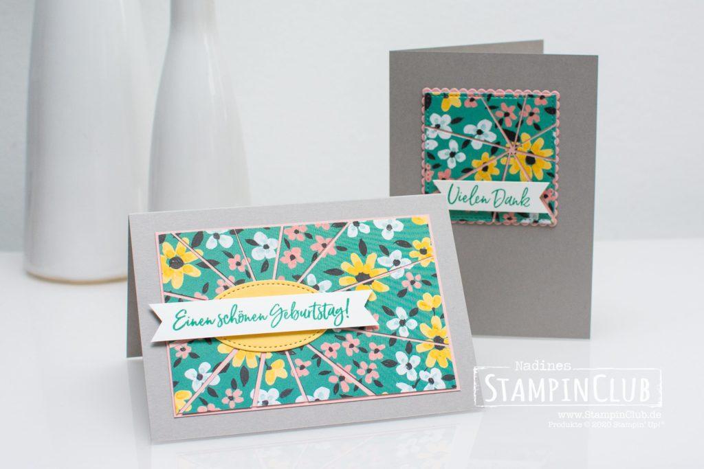 Stampin Up, StampinClub, Designerpapier Wiesenblumen, Flower & Field DSP, Eiszeit, Sweet Ice Cream