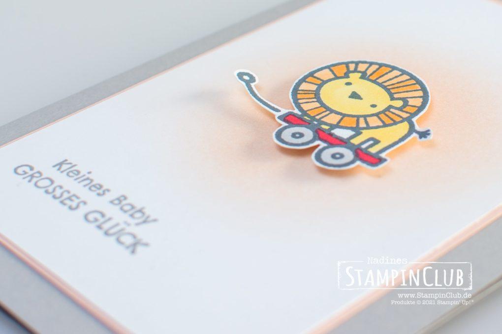 Stampin' Up!, StampinClub, Babykarte, Verspieltes zur Geburt, Baby Pull Toys
