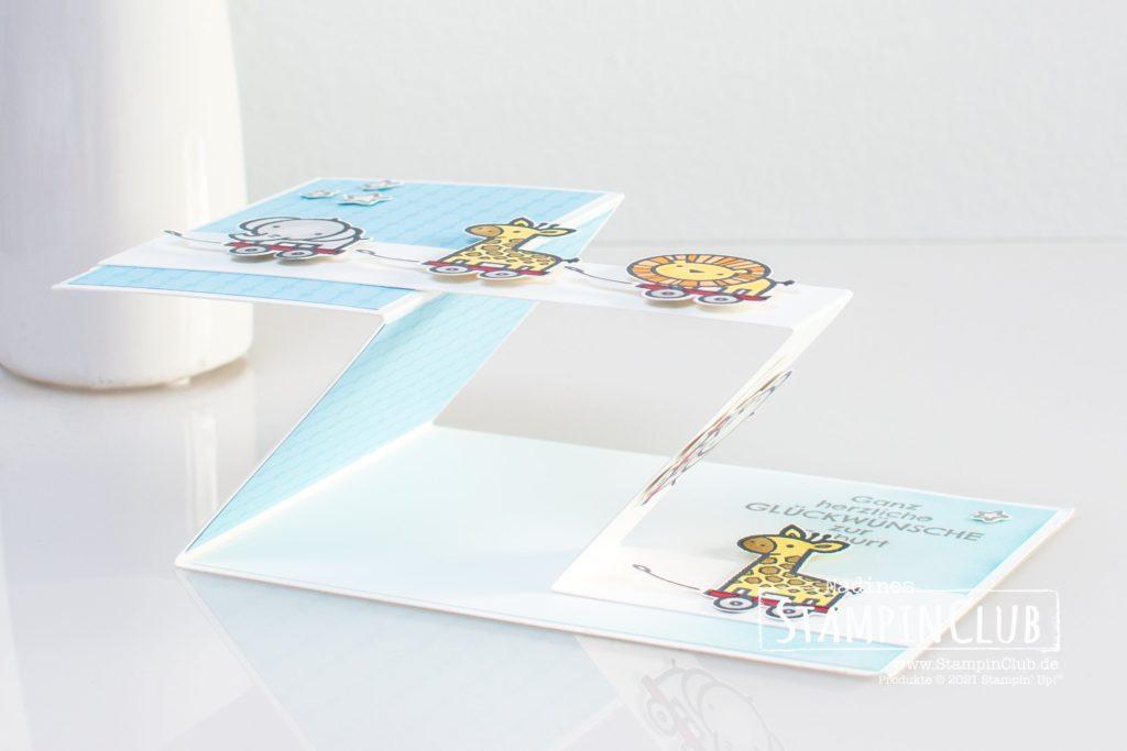 Double-Z-Fold zur Geburt, Stampin' Up!, StampinClub, Verspieltes zur Geburt, Baby Pull Toys, Double Z-Fold Karte