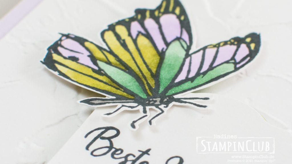 Stampin' Up!, StampinClub, Tintentraum, A Touch of Ink, 3D Prägeform Strukturputz, Painted Texture 3D Embossing Folder, Entzückendes Etikett
