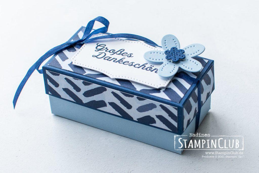 Stampin' Up!, StampinClub, Blumenverziert, In Bloom, Stanzformen Perforierte Blumen, Pierced Blooms Dies, Designerpapier Papierblüten, 2er Ferrero Rocher Box