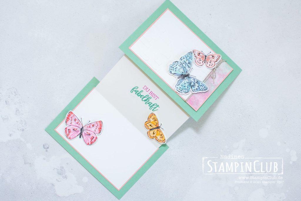 Stampin' Up!, StampinClub, Stanzformen Fabelhafte Falter, Brilliant Wings Dies, Designerpapier Schmetterlingsschmuck, Butterfly Bijou DSP, Fabelhaft, You are Amazing