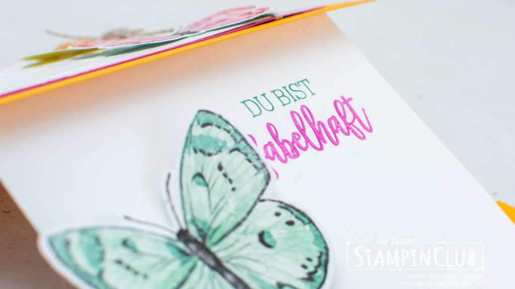 Stampin' Up!, StampinClub, Stanzformen Fabelhafte Falter, Brilliant Wings Dies, Designerpapier Schmetterlingsschmuck, Butterfly Bijou DSP, Fabelhaft, You are Amazing