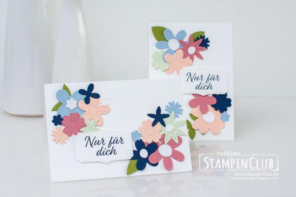 Stampin' Up!, StampinClub, Stanzformen Perforierte Blumen, Pierced Blooms Dies, Stempelset Herzenssache