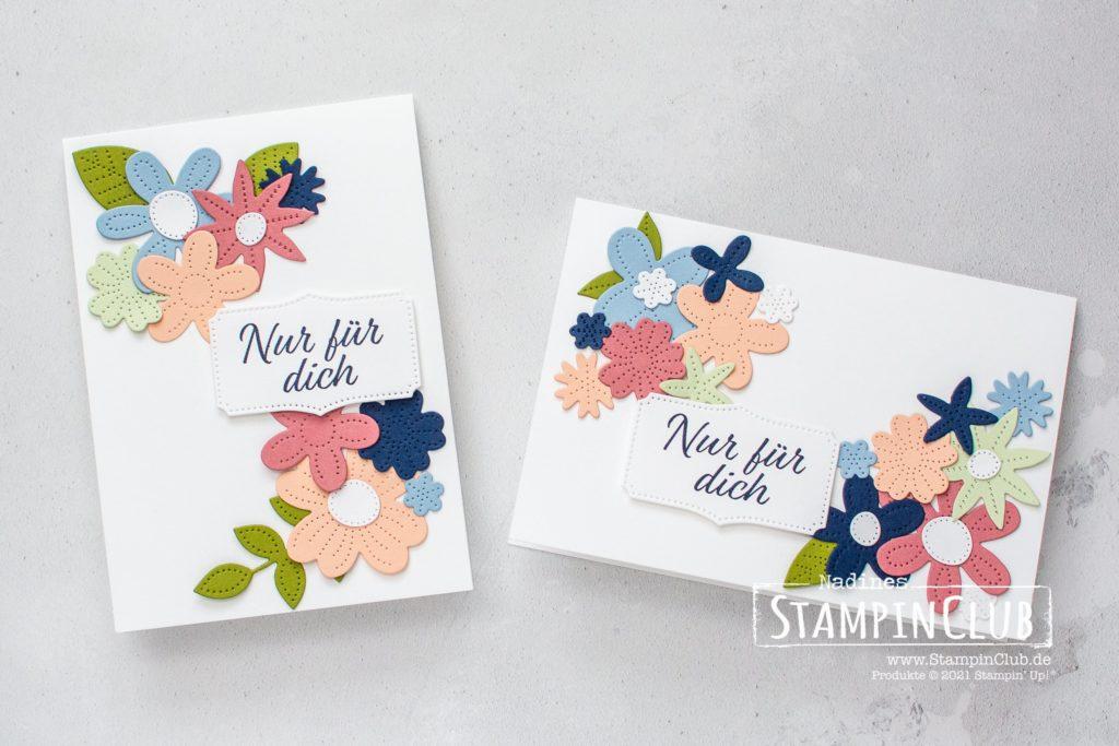 Perforierte Blumen, Stampin' Up!, StampinClub, Stanzformen Perforierte Blumen, Pierced Blooms Dies, Stempelset Herzenssache