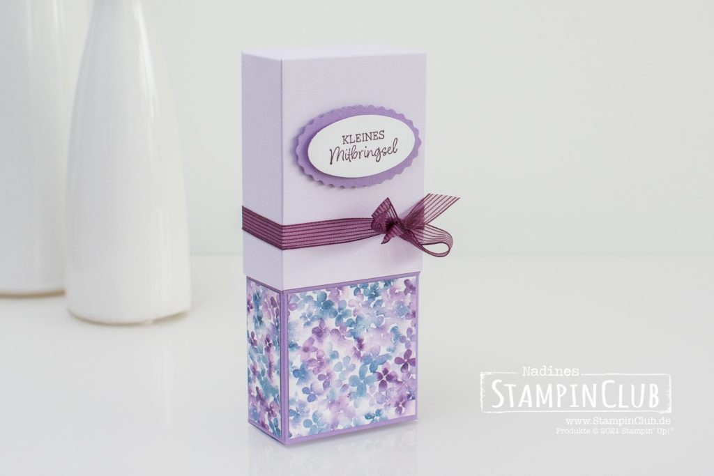 Stampin' Up!, StampinClub, Osterhasen Pop-Up Verpackung, Designerpapier Hortensienpark, Hydrangea Hill DSP, Ovale Grüße, Oval Occasions, Stanze Oval-Duo, Double Oval Punch