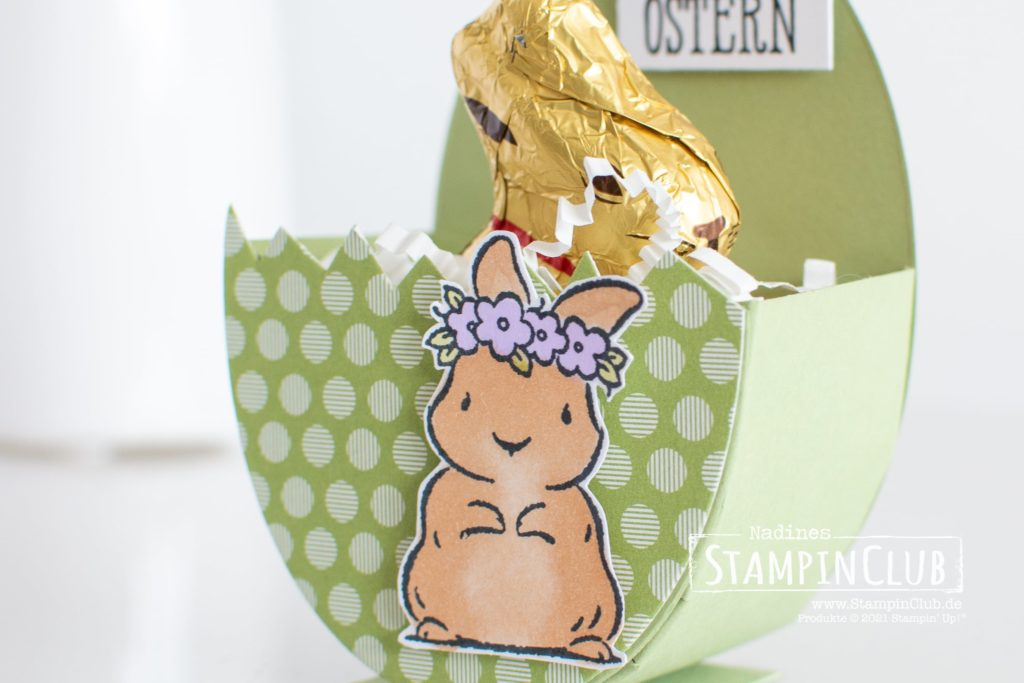 Osterei-Verpackung, Stampin' Up!, StampinClub, Osterhase, Ostern, Ostergeschenk, Gut gesagt, Osterei, Osterei-Verpackung, Springtime Joy