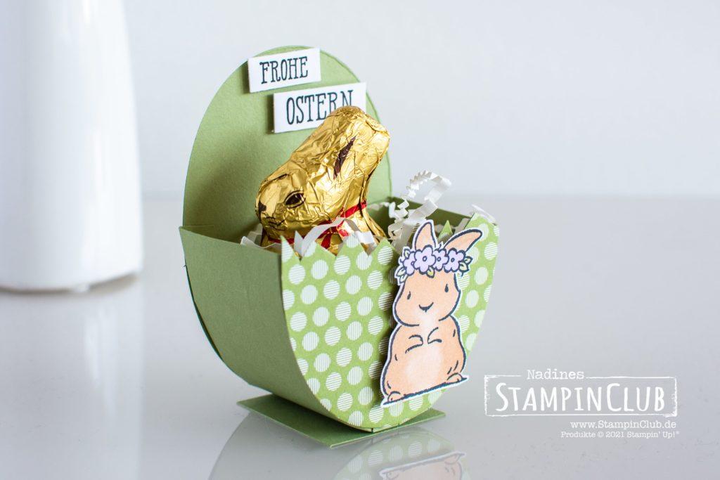 Stampin' Up!, StampinClub, Osterhase, Ostern, Ostergeschenk, Gut gesagt, Osterei, Osterei-Verpackung, Springtime Joy