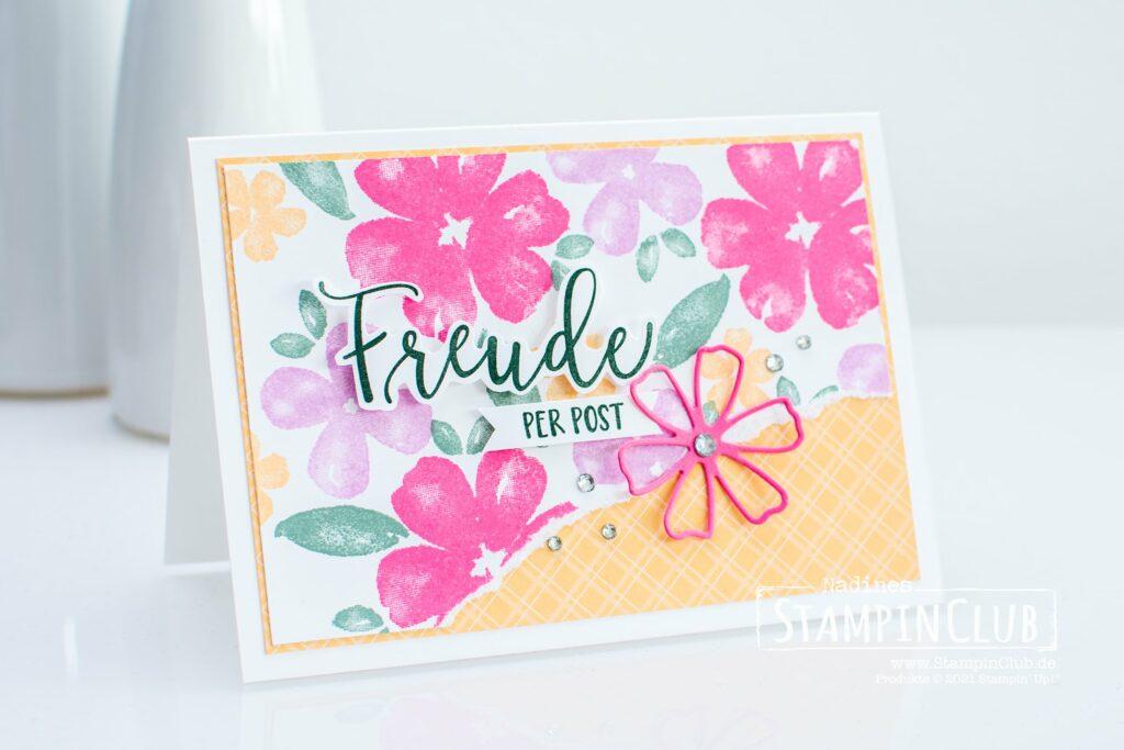Blumen voller Freude, Stampin' Up!, StampinClub, Blumen voller Freude, Pretty Perennials, Stazformen Herrlich blumig, Perennial Petals Dies, InColor 2021-2023