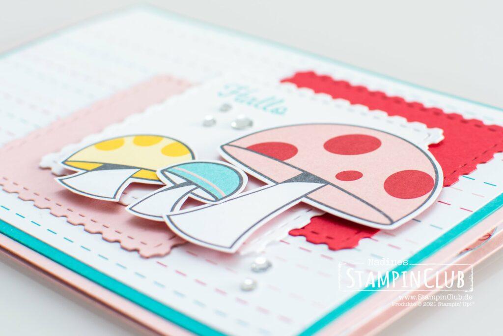 Stampin' Up!, StampinClub, Schneckenpost, Snailed It, Stanzformen Schnecke, Snail Dies, Designerpapier Schneckenpost, Snail Mail DSP, Floating Pop-Up Karte
