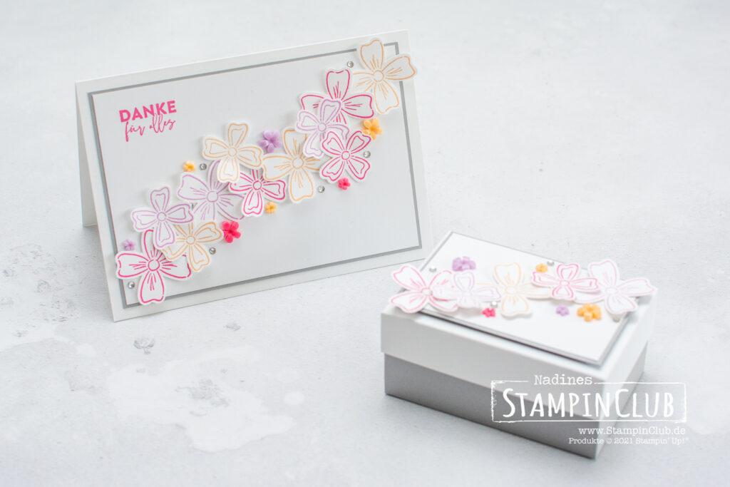 Stanze Blüten und Blätter, Stampin' Up!, StampinClub, Freundschaftsblüten, Flower of Friendship, Stanze Blüten und Blätter, FLowers & Leaves Punch, InColor 2021-2023