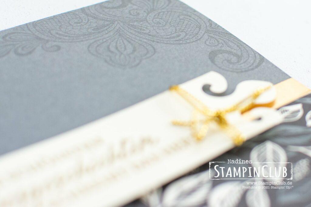 Stampin' Up!, StampinClub, Elegant Gesagt, Elegantly Said, Stanze Elegantes Etikett, Elegant Tag Punch, Besonderes Designerpapier Einfach elegant, Simply Elegant Speciality DSP