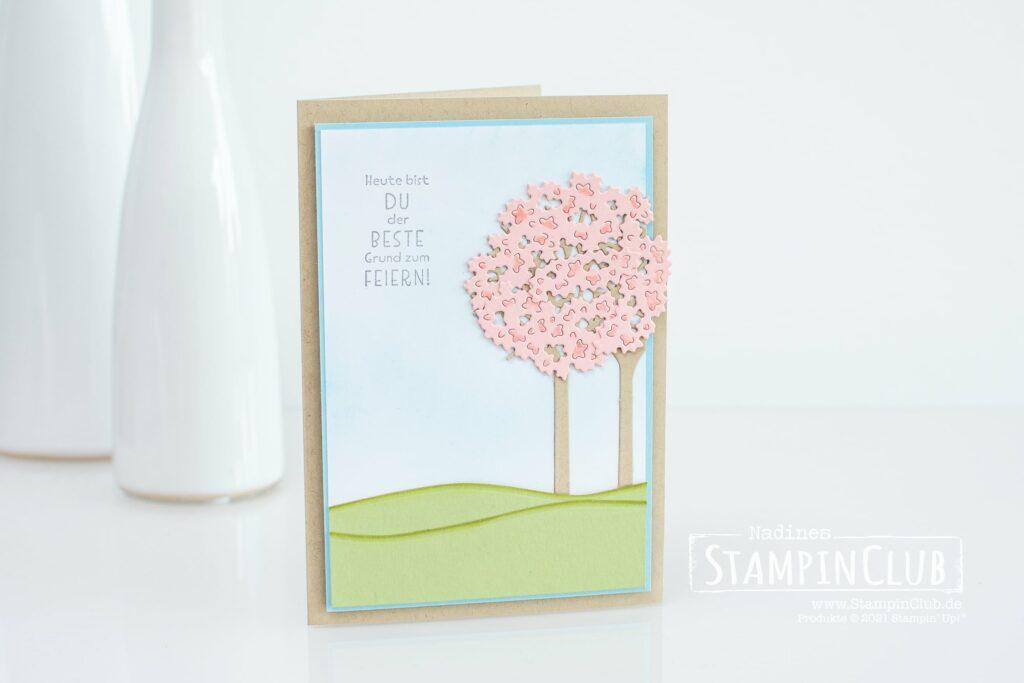 Stampin' Up!, StampinClub, Gedanken und Grüße, Inspired Thoughts, Stanzformen Unter den Bäumen, Inspiring Canopy Dies