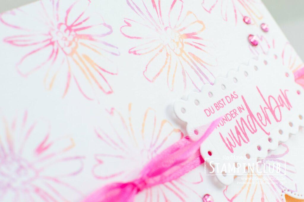 Feuchttuchtechnik, Stampin' Up!, StampinClub, Feuchttuchtechnik, Baby Wipe Technique, Totally Techniques, Konturiert und Koloriert, Color & Contour, Stanzformen Gewellte Konturen, Scalloped Contours Dies, In Color 2021-2023