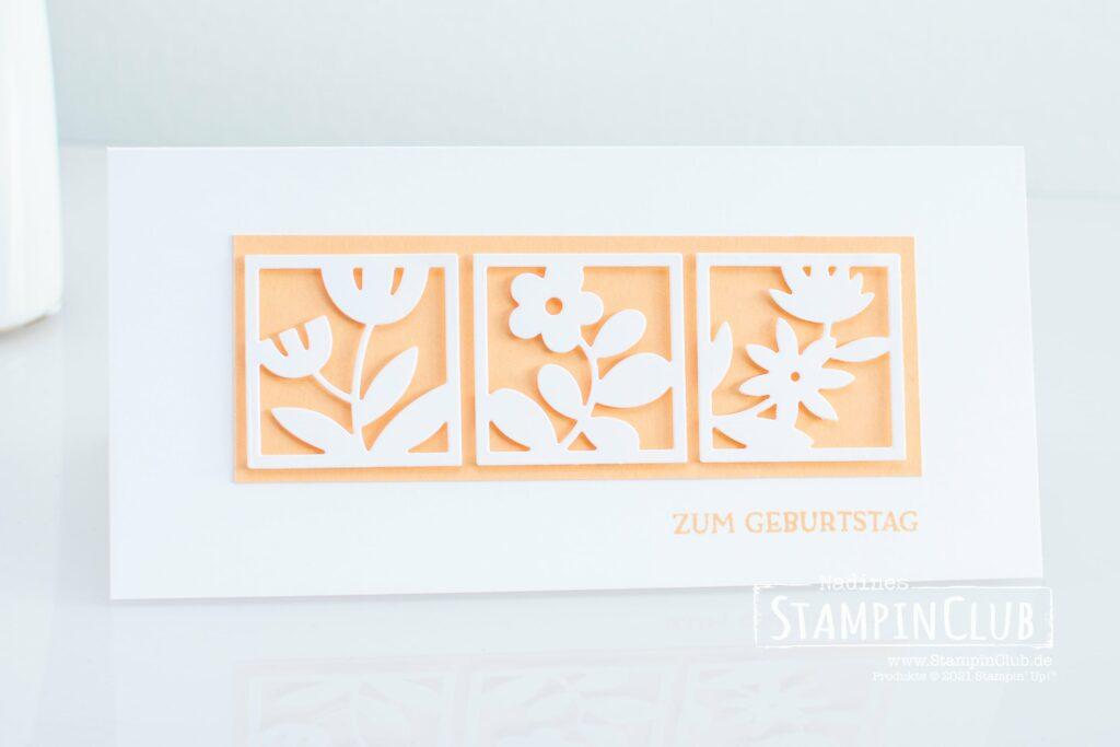 Florale Rechtecke, Stampin' Up!, StampinClub, Stanzformen, Florale Rechtecke, Floral Squares Dies, Blumengruß