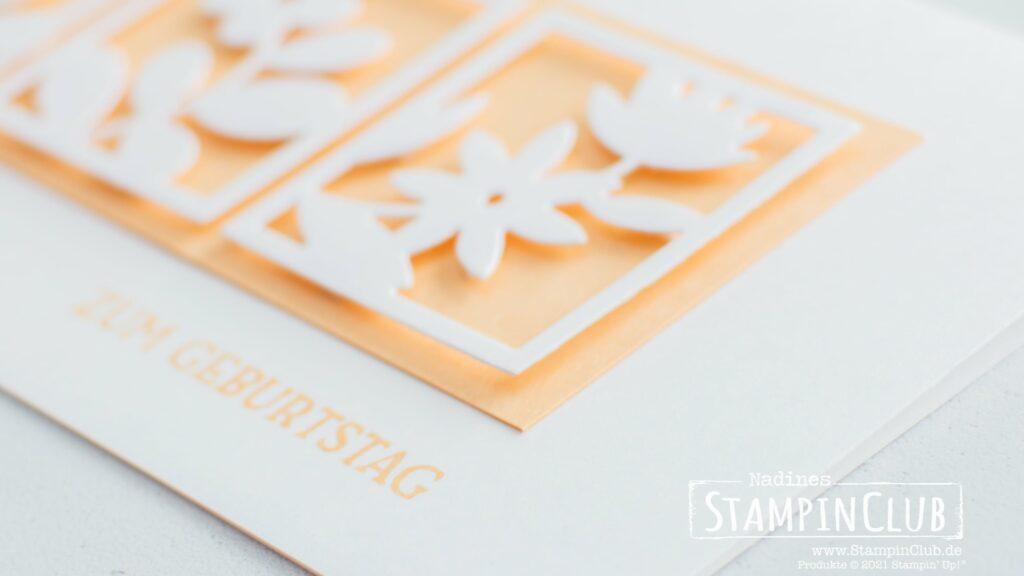 Stampin' Up!, StampinClub, Stanzformen, Florale Rechtecke, Floral Squares Dies, Blumengruß