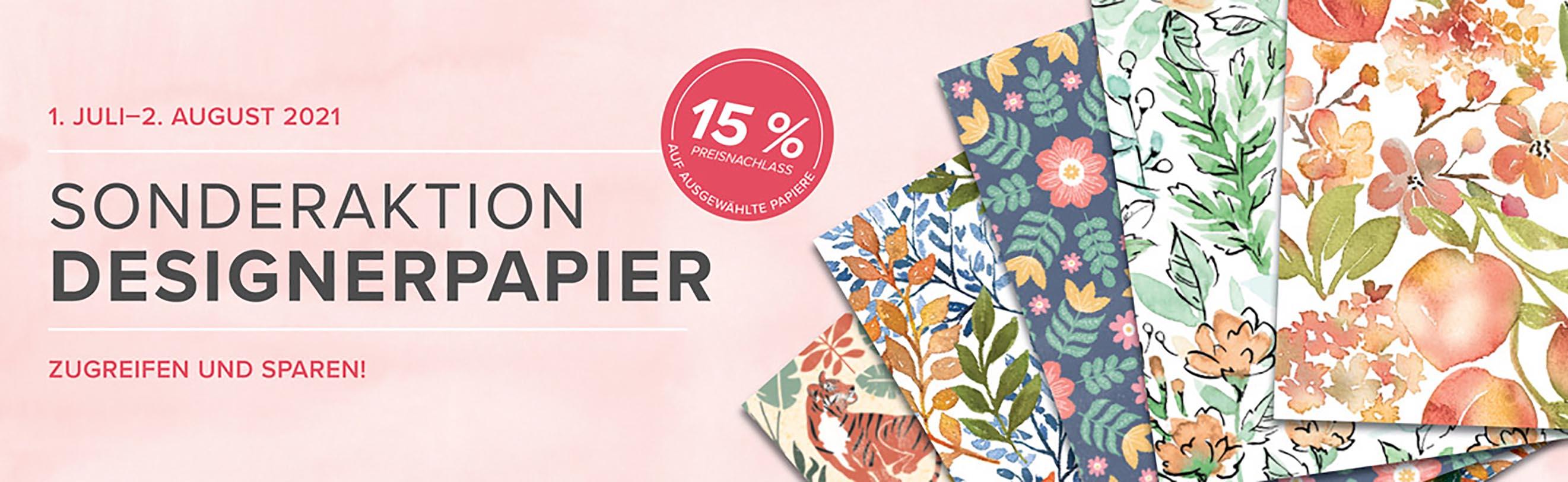 15% auf Designerpapier