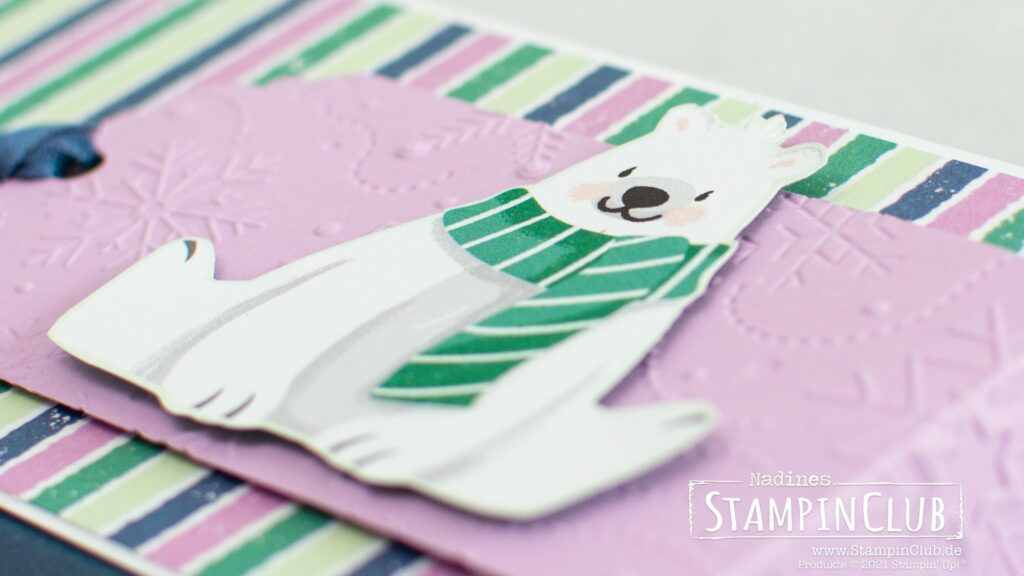 Stampin' Up!, StampinClub, 2er, Duplo, Shadowbox, Designerpapier Pinguin & Co, Penguin Playmates DSP, Sale-A-Bration, Sale-A-Bration 2021, Prägeformen Winterlich 3D, Wintry 3D Embossing Folder, Stanze Bezaubernder Anhänger, Delightful Tag Topper Punch