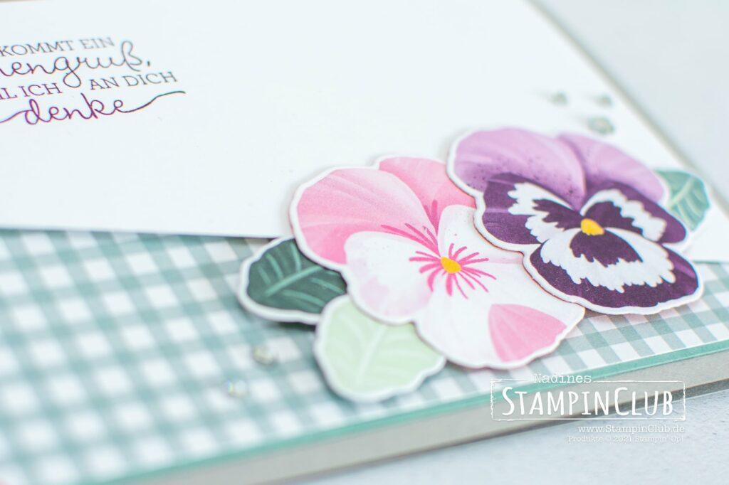 Stampin' Up!, StampinClub, Produktreihe Stiefmütterchen, Stilvolle Stiefmütterchen, Stanzformen Stiefmütterchen-Mix, Designerpapier Stiefmütterchen