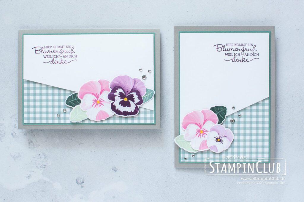 Designerpapier Stiefmütterchen, Stampin' Up!, StampinClub, Produktreihe Stiefmütterchen, Stilvolle Stiefmütterchen, Stanzformen Stiefmütterchen-Mix, Designerpapier Stiefmütterchen