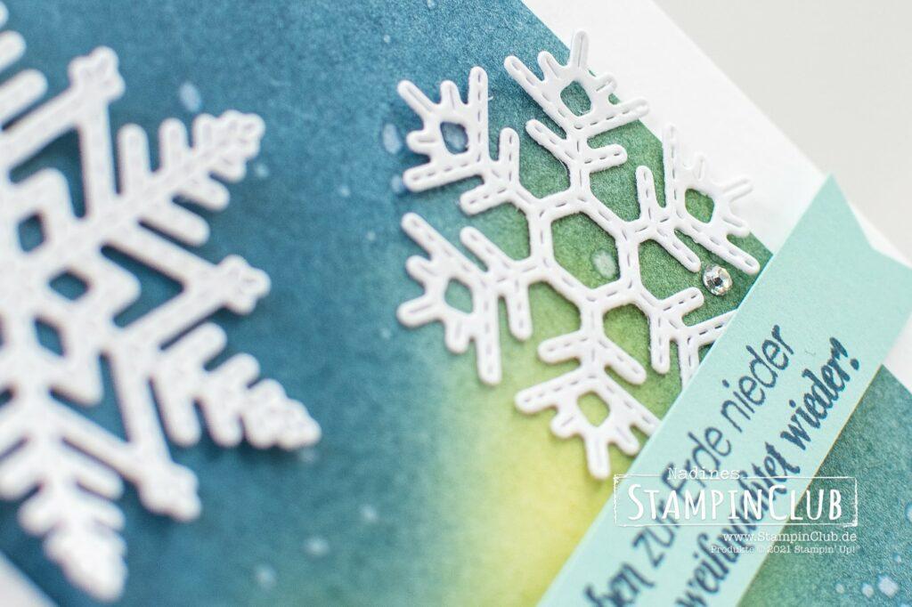 Stanzformen Bestickte Schneeflocken, Stampin' Up!®, StampinClub, Flockenwünsche, Merry Snowflakes, Stanzformen Bestickte Schneeflocken, Stitched Snowflakes Dies