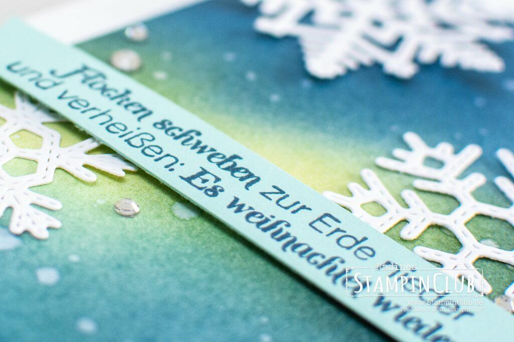 Stampin' Up!®, StampinClub, Flockenwünsche, Merry Snowflakes, Stanzformen Bestickte Schneeflocken, Stitched Snowflakes Dies
