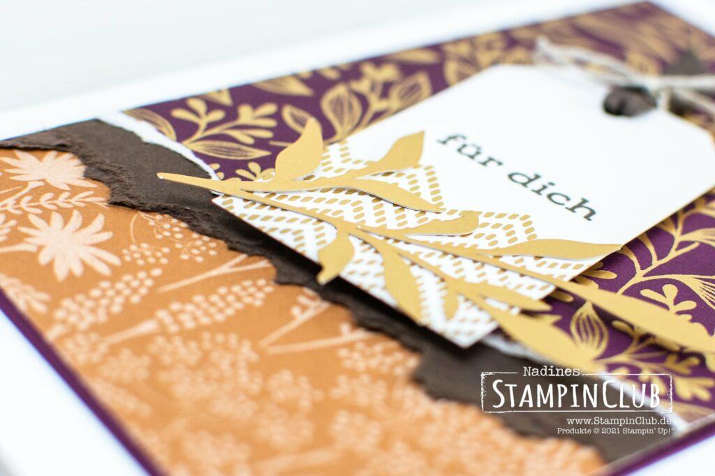 Stampin' Up!®, StampinClub, Besonderes Designerpapier Herbstwunder, Blackberry Beauty Speciality DSPZierelemente-Mix Herbstwunder, Blackberry Beauty Ephemera Pack