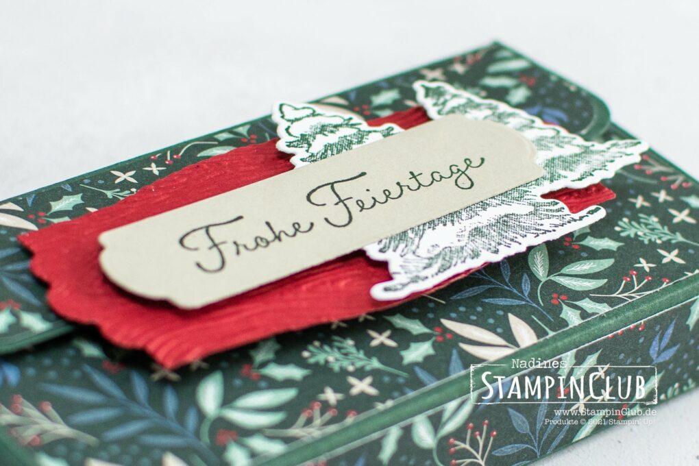 Stampin' Up!®, StampinClub, Verschneite Weihnachten, Snow Wonder, Designerpapier Wunderbare Weihnachten, Stanzformen Verschneite Zeiten, Snow Time Dies